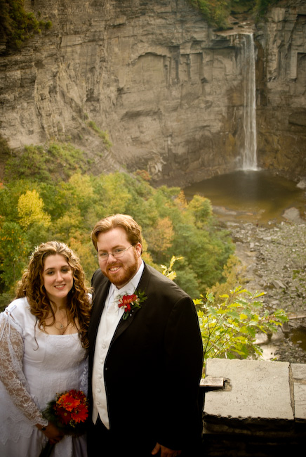Jason and Kim, Taughannock Falls in background