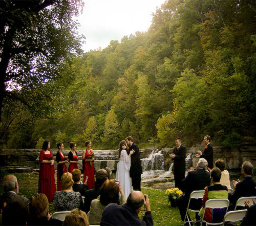 A Secluded Outdoor Wedding at Taughannock Falls in Trumansburg, NY