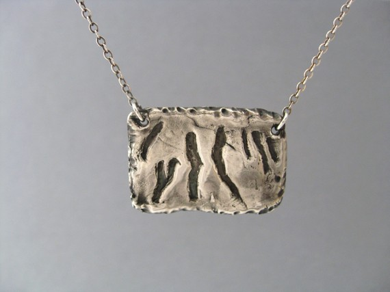 Handmade Silver Finger Lakes Pendant on etsy.com (and more Finger Lakesy Jewelry)