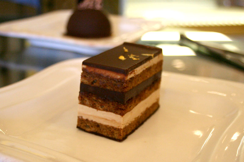 Opera Torte - Sarah's Patisserie in the Finger Lakes
