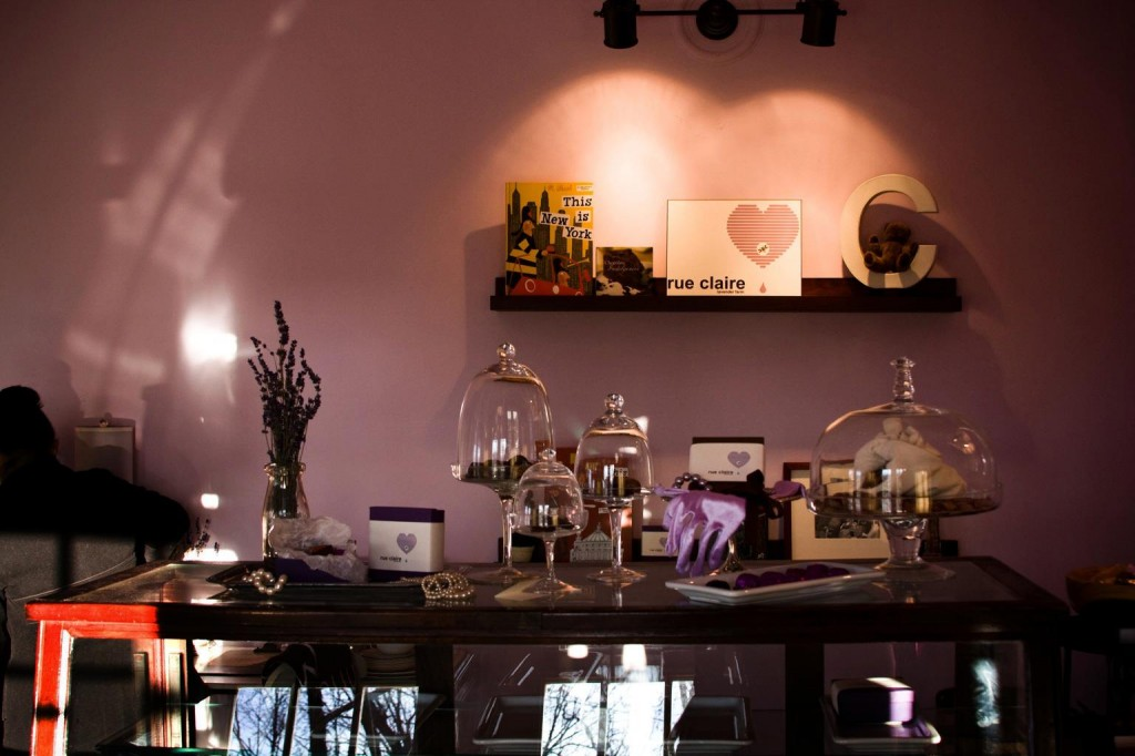 Inside the Rue Claire Artisan Chocolate shop