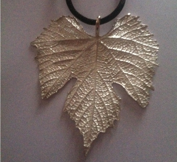 Finger Lakes Grape Leaf Necklace