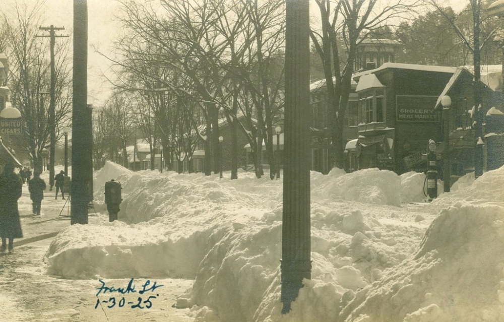 Franklin Street 88 years ago today!! January 30, 1925. Via Schuyler County Historical Society, NY on InTheFingerLakes.com