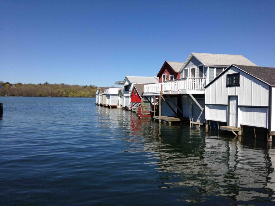 Boathouses at Canandaigua City Pier - In The Finger Lakes (inthefingerlakes.com)