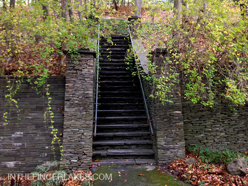 Steps to the road above - Garrett Chapel - In The Finger Lakes