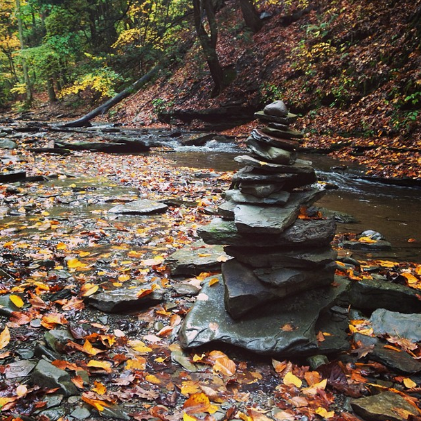 Rock pile in Grimes Glen