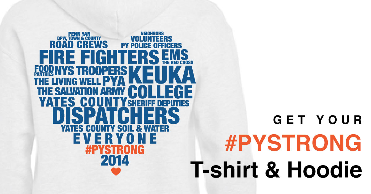 Heart Penn Yan T-Shirt Sales to Benefit Flood Relief (and a Progress Report)