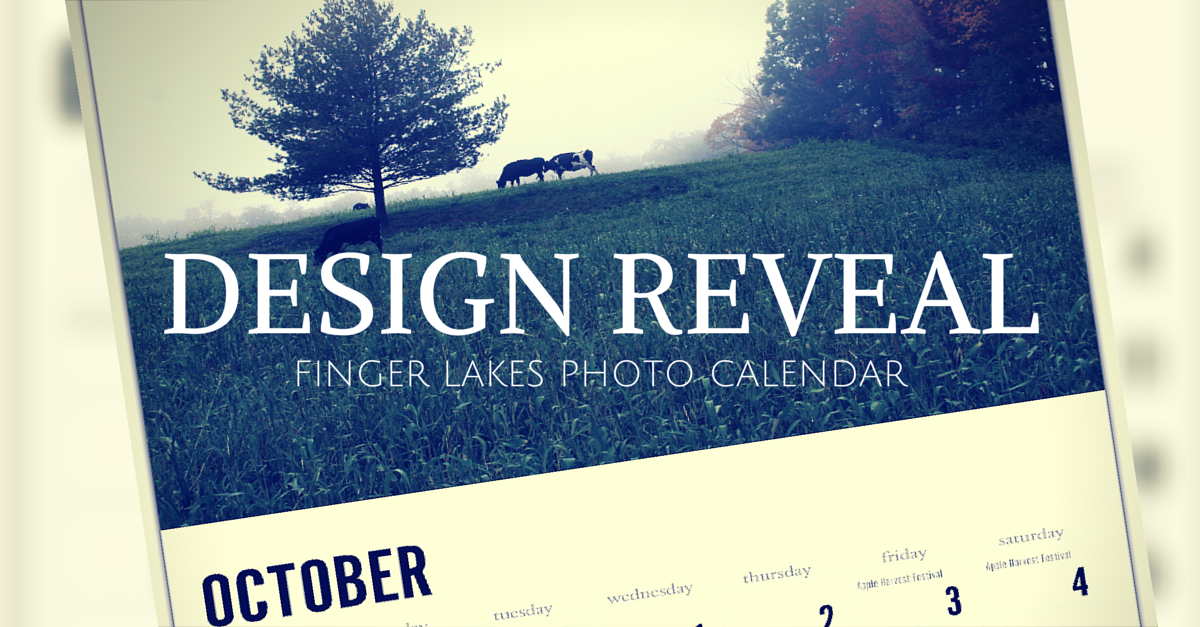 Design Reveal – Finger Lakes Photo Calendar [2015]