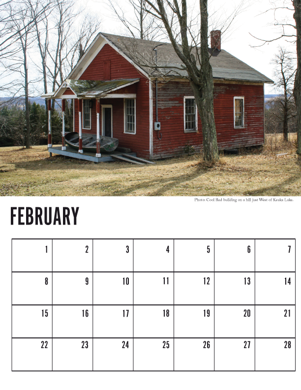 Finger Lakes Photo Calendar - February 2015