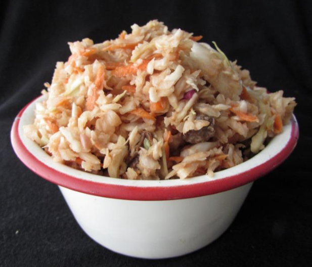 Crunchy Cabbage Salad with Cinnamon Pear Balsamic from F. Oliver's