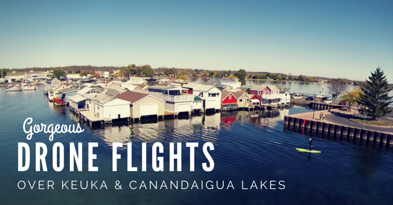 Keuka Lake & Canandaigua Lake Drone Flight